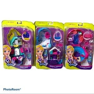 NWT Polly Pocket Compact complete set of 3
